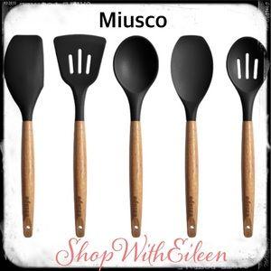 Miusco Non-Stick Silicone Cooking 5 Utensils Set